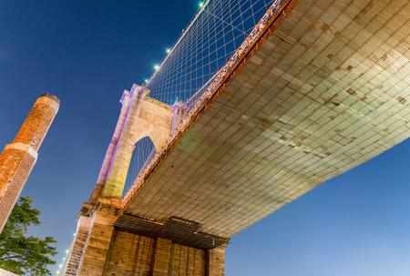 magnificence: Magnificence of Brooklyn Bridge at night, New York City.