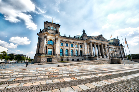 magnificence: Magnificence of Reichstag building, Berlin - Germany.
