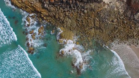 wilsons promontory: Squeaky Beach aerial view, Wilsons Promontory.