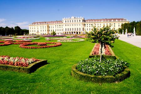 schloss schonbrunn: Gardens and Flowers inside Schonbrunn Castle, Vienna