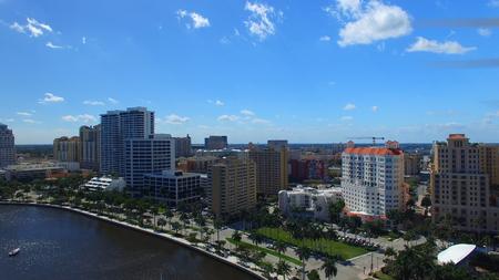 ウェストパームビーチ、フロリダ州の空撮。
