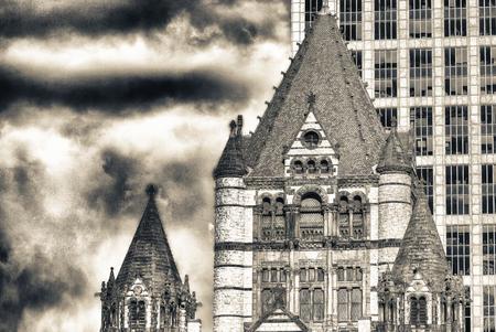 Trinity Church at Copley Square in Boston.