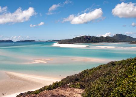 archipelago: Whitehaven Beach in the Whitsundays Archipelago, Queensland, Australia Stock Photo