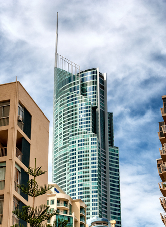 goldcoast: Tall buildings of Surfers Paradise, Australia. Stock Photo