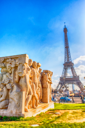 magnificence: Paris, magnificence of Eiffel Tower.