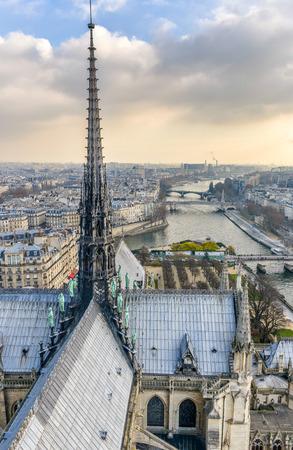 aerial city: Paris, aerial city skyline. Stock Photo