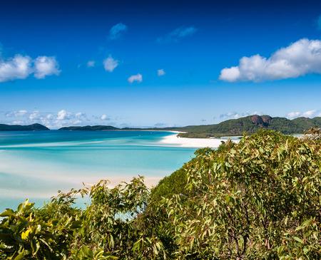 whitehaven beach: Aerial view of Whitsundays, Australia.