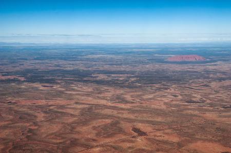 Aerial view of Australian Desert, Northern Territory. Editorial