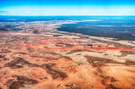 Aerial view of Australian Desert, Northern Territory. Stock Photo
