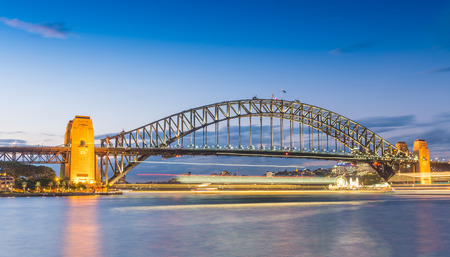 nsw: Magnificence of Sydney harbour bridge at sunset - NSW - Australia.