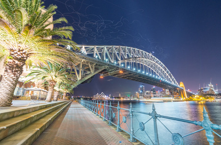 magnificence: Magnificence of Sydney harbour bridge at sunset - NSW - Australia.