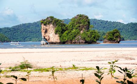 Beautiful island in Krabi province, Thailand. Stock Photo