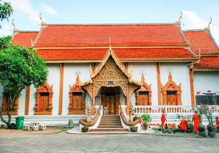 molee: Beautiful temple of Chiang Mai - Thailand Stock Photo
