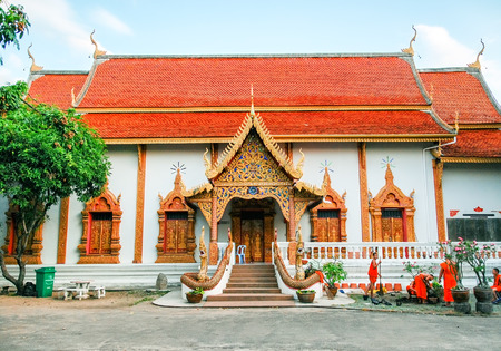 Beautiful temple of Chiang Mai - Thailand Stock Photo