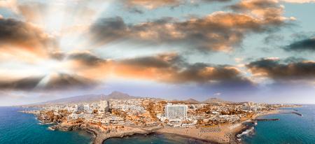 playa: Beautiful aerial view of Playa de Las Americas in Tenerife.