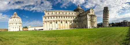Detail of Miracles Square in Pisa on a sunny day, Tuscany - Italy.
