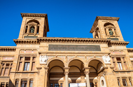 florence italy: National Library of Florence, Italy. Stock Photo