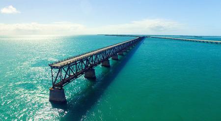 natural bridge state park: Bahia Honda State Park, aerial panoramic view - Florida - USA.