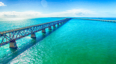 Bahia Honda State Park, aerial panoramic view - Florida - USA.