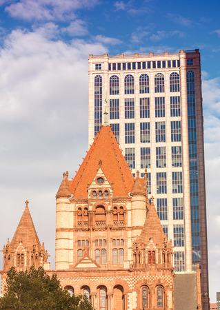 Boston Trinity Church in Copley Square, USA.