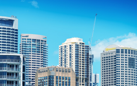 new south wales: Buildings and skyline of Sydney, New South Wales. Stock Photo