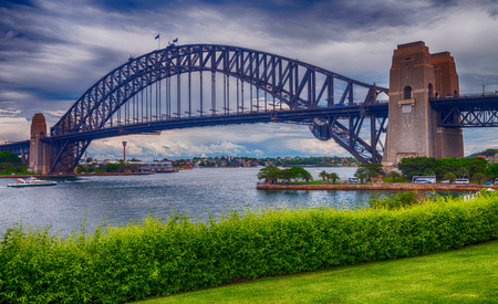 new south wales: Metal structure of Sydney Harbour Bridge, New South Wales - Australia.