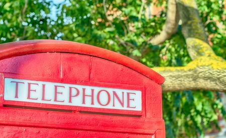 cabina telefono: cabina telefónica, Londres. Foto de archivo