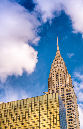 NEW YORK CITY - JUNE 2013: The Chrysler building was the worlds tallest building (319 m) before it was surpassed by the Empire State Building in 1931. Editorial