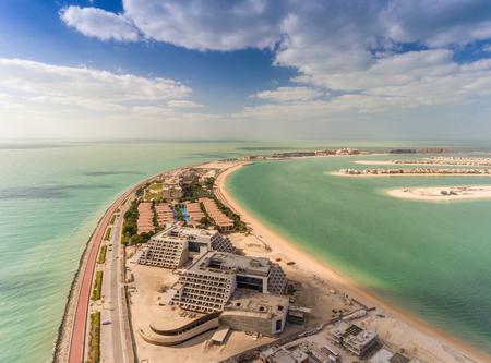 Vista aérea de la isla de Palm Jumeirah, Dubai.