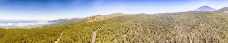 Panoramic aerial view of Mountain Roads.