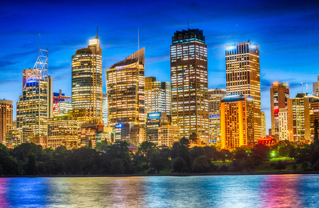 Sydney skyline at night.