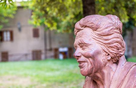 Bolgheri. Sculpture of Giosue Carduccis Grandmother, italian Nobel laureate.