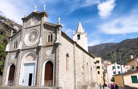Riomaggiore, Italy. Town Church.