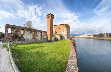 Ancient citadel of Pisa, Italy. Editorial