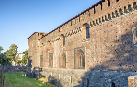 sforzesco: Sforza Castle, Milan. Beautiful exterior view.