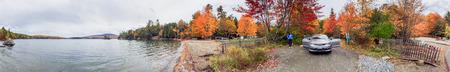 Beautiful landscape in foliage season, New England - USA.