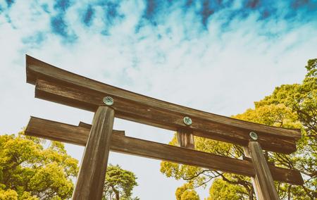 harajuku: Meiji Shrine park in Tokyo, Japan.
