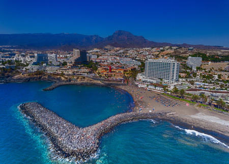 landscape: Adeje Coast, aerial view of Tenerife, Canary Islands.
