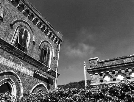livorno: Castiglioncello train station and buildings, Tuscany- Editorial