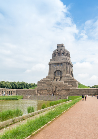 LEIPZIG, GERMANY - JULY 2016: Monument to the Battle of the Nations. This is a famous city attraction.