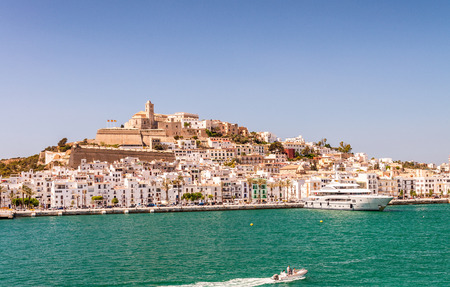 Aerial view of Ibiza city port, Spain. Imagens - 77564239