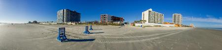 Panoramic view of Daytona Beach coastline, Florida.