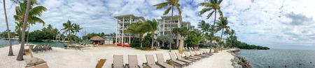 Panoramic view of coastline in Islamorada - Florida.