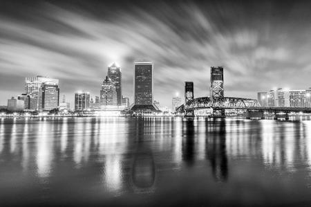 Night skyline of Jacksonville, Florida.