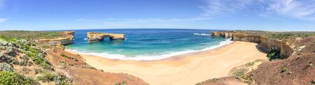 rock formation: Razorback lookout panorama along Great Ocean Road, Australia. Stock Photo