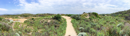 wilsons promontory: Cotters Lake trail in Wilsons Promontory park, Australia. Stock Photo