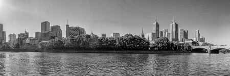 southbank: Panoramic view of city skyline. Melbourne is the main city in Victoria state. Stock Photo