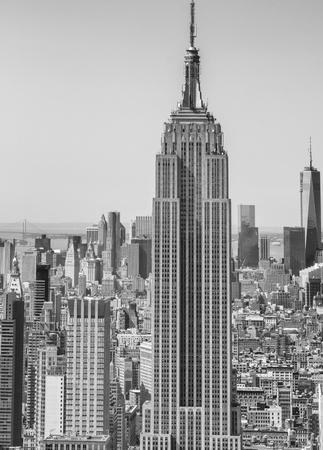 Skyline aérienne de New York.