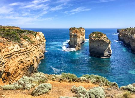 Razorback lookout panorama along Great Ocean Road, Australia. Stock Photo