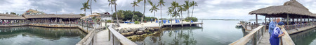 ISLAMORADA, FL - FEBRUARY 2016: Tourists along the coastline. The city is a major attraction in Florida. Editorial